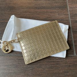 Christian Dior Kreditkarten halter in Gold mit gold dior logo